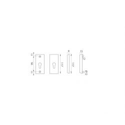 AXA - ROZETA ATLAS2 F4 - Bronz elox