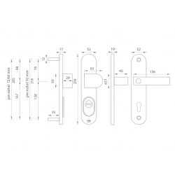 Bezpečnostné kovanie TI - LORD PLUS - 3212 OCS - Chróm brúsený