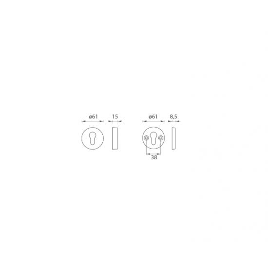 AXA - ROZETA F4 - Bronz elox