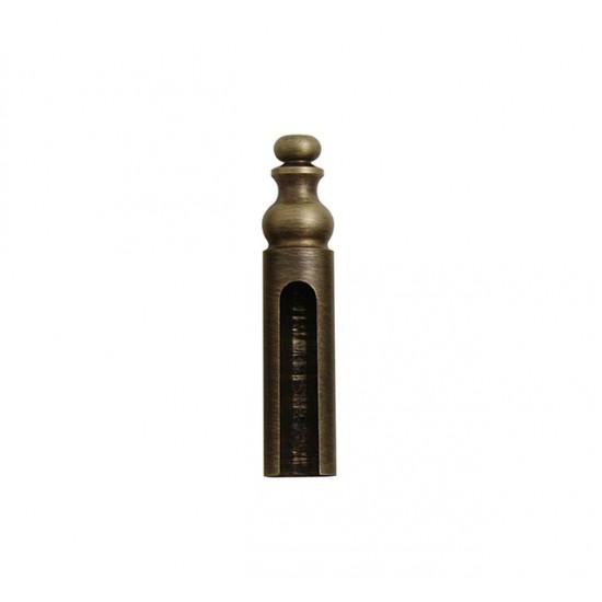 FT - KRYTKA NA ZÁVES ozdobná, na priemer pántu 14 mm OGS - Bronz česaný matný lak
