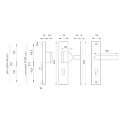 Bezpečnostné kovanie AXA - ATLAS2 F1 - Prírodný elox