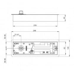 GZ - TS 500 EN 3 Podlahový samozatvárač S - Strieborná