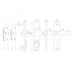 Bezpečnostné kovanie TI - LORD PLUS - 3212 OC - Chróm lesklý