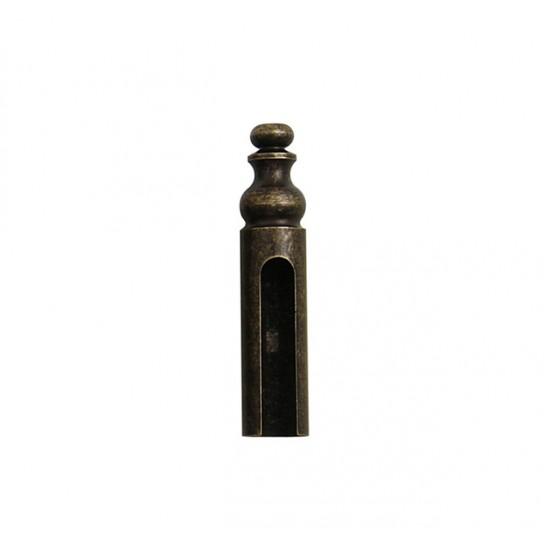 FT - KRYTKA NA ZÁVES ozdobná, na priemer pántu 14 mm OBA - Antik bronz