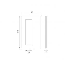 JNF - Mušľa na sklo IN. 16.560.A BN - Brúsená nerez