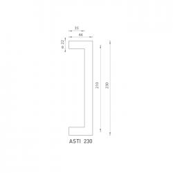 FO - madlo Asti 230 OCS - Chróm brúsený