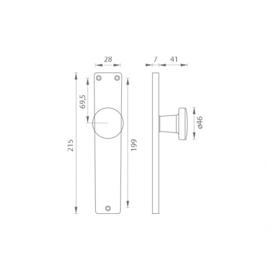 GI - Štít s guľou - I/7071 F2 - Šampáňo elox