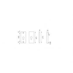 AXA - ROZETA ATLAS2 F6 - Inox elox