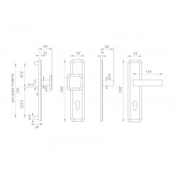 Spevnené kovanie MI - QB SECUR / SUN 1 OC/OC/OCS - Chróm lesklý / chróm lesklý / chróm brúsený