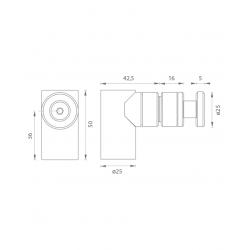 JNF - Magnetická zarážka dverí IN.13.187 BN - Brúsená nerez