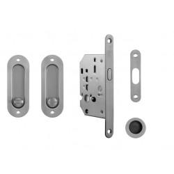 ATZ - Set na posuvné dvere WC 10401 - oválny BN - Brúsená nerez