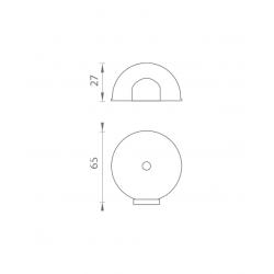 AXA - Zarážka dverí zaoblená - FS65 BN - Brúsená nerez