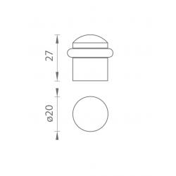 TI - Podstavec pod zarážku - 115 OC - Chróm lesklý
