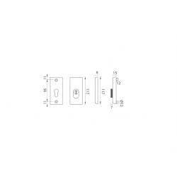 AXA - ROZETA ATLAS2 PLUS F4 - Bronz elox