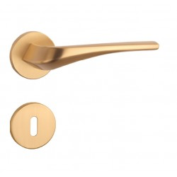 Kľučka na dvere AS - DALIA - R 7S OLS - Mosadz brúsená lesklý lak