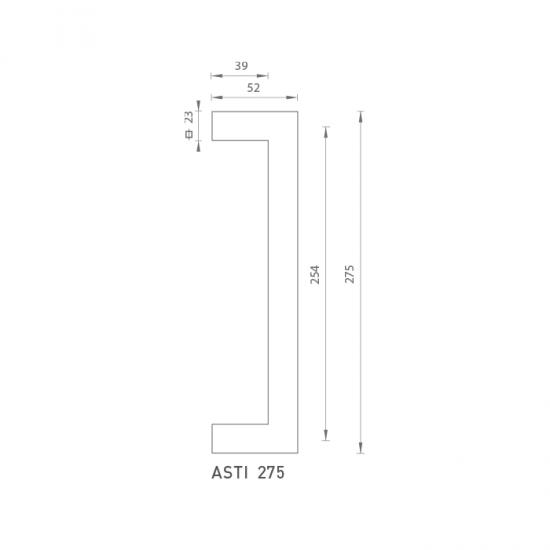 FO - madlo Asti 275 OCS - Chróm brúsený