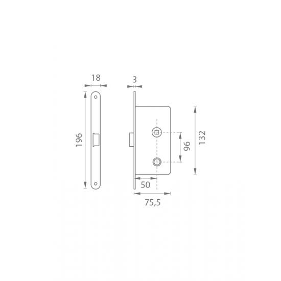AGB - Magnetický zámok MEDIANA POLARIS WC B - Bronz česaný matný lak