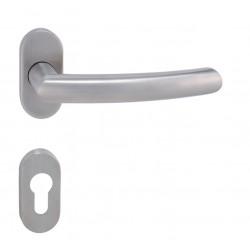 Kľučka na dvere MP - NERO - UOR BN - Brúsená nerez