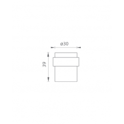 AXA - Zarážka dverí oválna - FS35 BN - Brúsená nerez