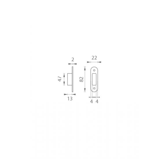 AGB - Protiplech k magnetickému zámku MEDIANA POLARIS univerzálny s plastovou vaničkou B - Bronz česaný matný lak
