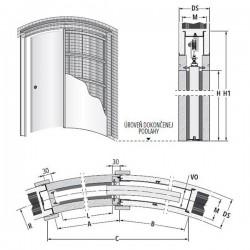 Stavebné puzdro ECLISSE CIRCULAR jednokrídlové 1000 mm - Murivo