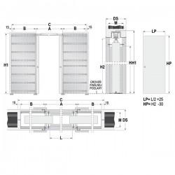 Stavebné puzdro ECLISSE dvojkrídlové 1450 mm - Murivo