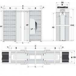 Stavebné puzdro ECLISSE EWOLUTO dvojkrídlové 1250 mm - Murivo