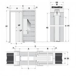 Stavebné puzdro ECLISSE EWOLUTO jednokrídlové 1000 mm - Murivo
