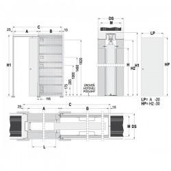 Stavebné puzdro ECLISSE LUCE jednokrídlové 1000 mm - Murivo