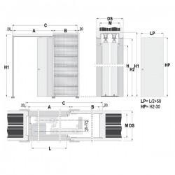 Stavebné puzdro ECLISSE TELESKOPICKÉ 1200 mm - Murivo