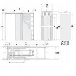 Stavebné puzdro ECLISSE TELESKOPICKÉ 1200 mm - Sadrokartón