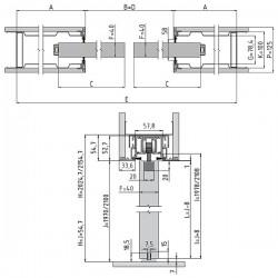 Stavebné puzdro JAP 712 AKTIVE KOMFORT dvojkrídlové 1250 mm - Murivo