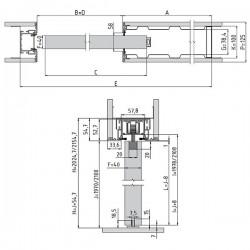 Stavebné puzdro JAP 702 AKTIVE STANDARD jednokrídlové 1000 mm - Murivo