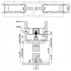 Stavebné puzdro JAP 711 LATENTE KOMFORT dvojkrídlové 1250 mm - Murivo