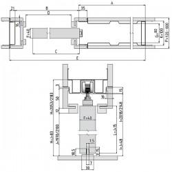 Stavebné puzdro JAP 701 LATENTE STANDARD jednokrídlové 1000 mm - Murivo