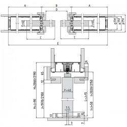 Stavebné puzdro JAP 715 NORMA KOMFORT dvojkrídlové 1250 mm - Sadrokartón
