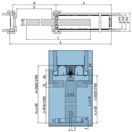 Stavebné puzdro JAP 705 NORMA STANDARD jednokrídlové 800 mm (1970/2100 mm x 100/125 mm) - Sadrokartón
