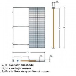 Stavebné puzdro Scrigno Stech - Murivo - 1000x1970x125 mm